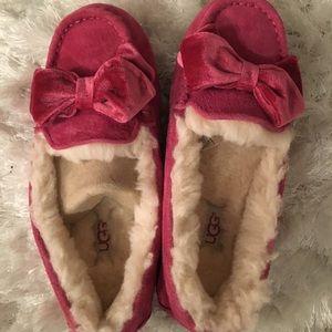 Brand new in box Clara velvet bow slippers